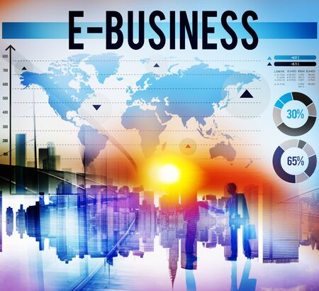 cartography: E-Business Online Networking Technology Marketing Commerce Concept