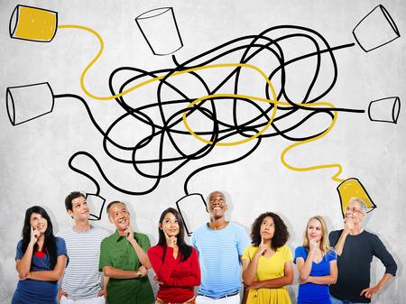 comunicación: Comunicar Comunicación Conexión de Telecomunicaciones Llamando Concepto