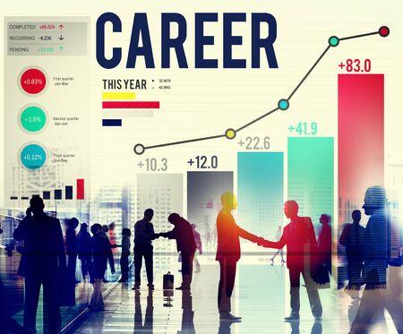 career plan: Career Employment Job Recruitment Occupation Concept Stock Photo