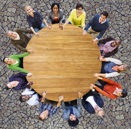 business support: Diversity Group of Business People Teamwork Support Concept Stock Photo
