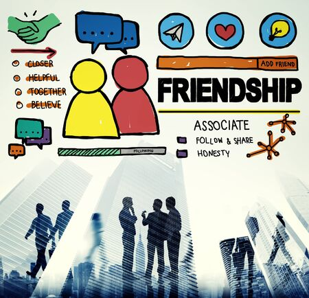 Friendship Group People Social Media Loyalty Concept