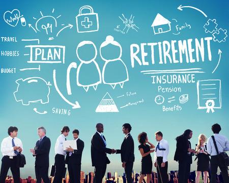 Pensionamento Assicurazione Pension Plan risparmio Vantaggi Concetto di corsa Archivio Fotografico - 42956227