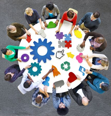 Global Communications Connexion Concept d'entreprise