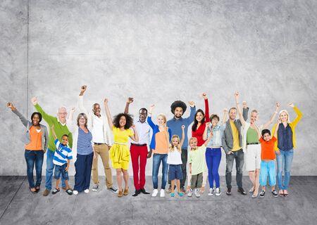 Diverse Diversity Ethnic Ethnicity Unity Variation Concept Stock Photo