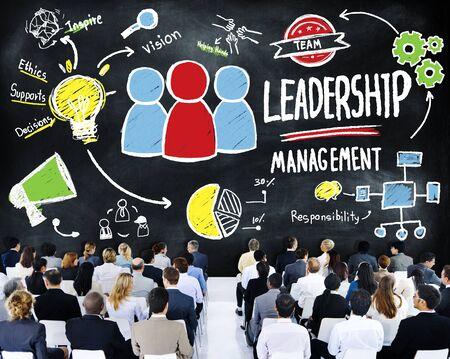 liderazgo empresarial: Seminario de Gestión de Liderazgo Diversidad Gente de negocios Concepto