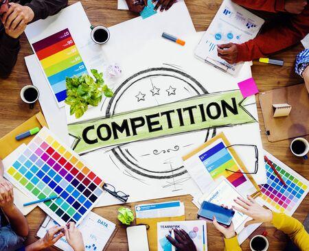 competencia: Competencia Competitivo Concepto Carrera Desafío Concurso Foto de archivo