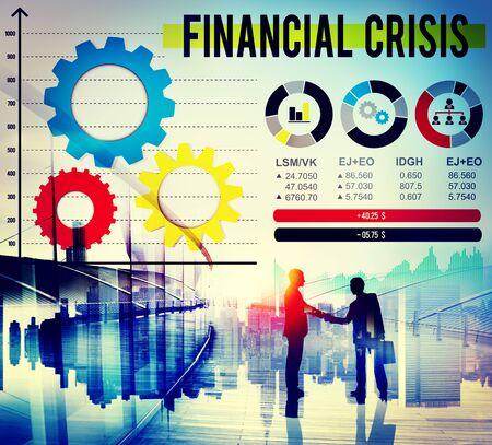 financial crisis: Financial Crisis Analysis Economic Data Concept Stock Photo