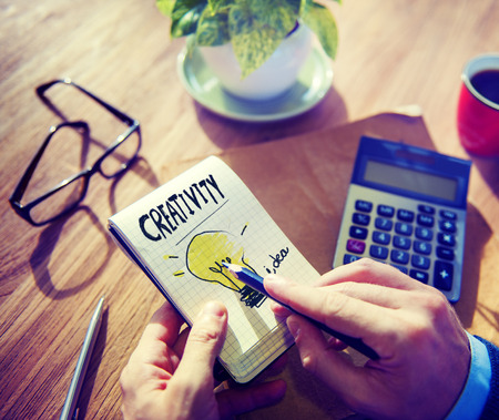 notepad: Businessman Notepad Creativity Ideas Concept