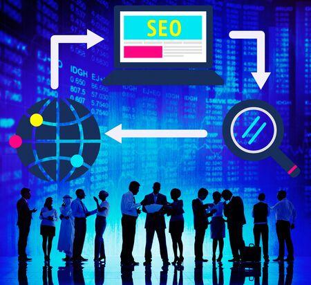 search engine optimization: SEO Search Engine Optimization Digital Computer Internet Concept