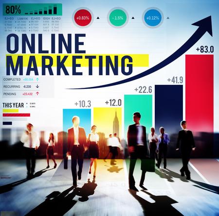 Online Marketing Adverteren Commerciële Brand Concept