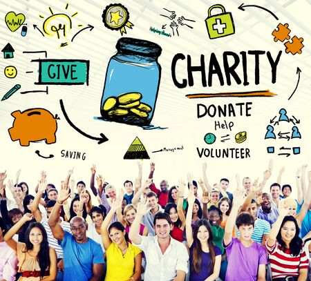 helping people: Charity Donate Help Give Saving Sharing Support Volunteer Concept