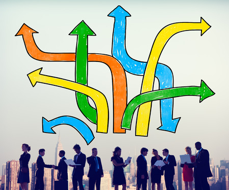 decision  making: Directions Choice Change Change Decision Making Concept