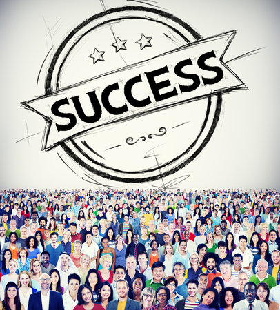 People and success concept