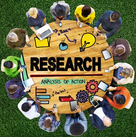 facts: Research Exploration Facts Feedback Report Concept Stock Photo
