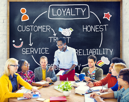 Loyalty Customer Service Trust Honest Reliability Concept Stock Photo