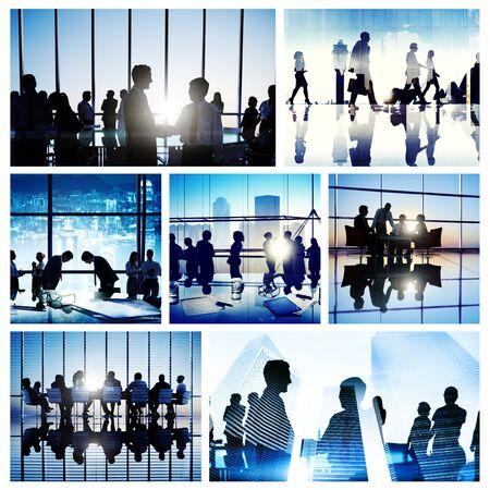 teamwork people: Business People Interaction Meeting Team Working Global Concept