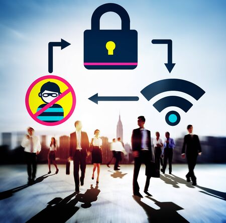 secret society: Online Security Protection Networking Privacy Concept