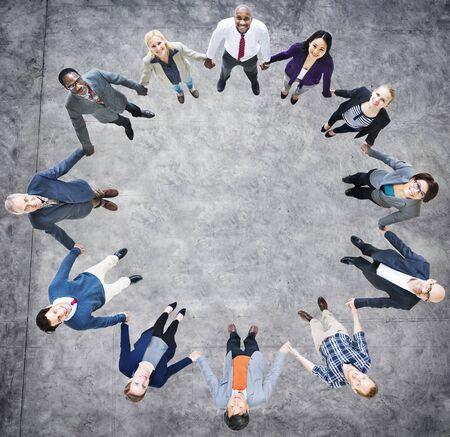 zweisamkeit: Team Corporate Zusammenhalt Einheitlichkeit Verbindung Konzept
