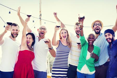 Friends Friendship Celebration Outdoors Party Concept Banco de Imagens