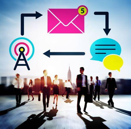 messaging: E-mail Instant messaging Internet Envelope Online Concept