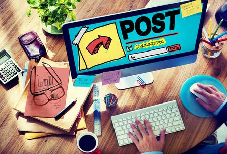 포스트 블로그 소셜 미디어 공유 온라인 통신 개념