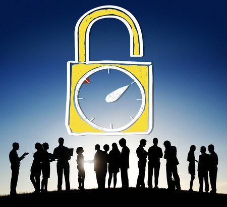 stipt: Tijd Unlock Wekker Punctueel Stopwatch Concept
