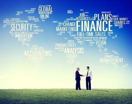financial concept: Global Finance Business Financial Marketing Money Concept