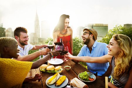 dining out: Celebration Friendship Rooftop Party Concept