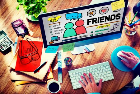 finding a mate: Friends Group People Social Media Loyalty Concept