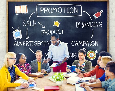 advertisement: Promotion Advertisement Sale Branding Marketing Concept Stock Photo
