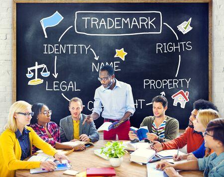 trademark: Trademark Copyright Identity Branding Product Concept Stock Photo