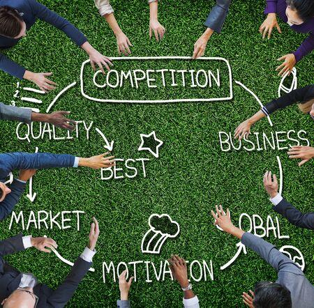 competition: Competencia Global Market Desafío Concurso Concept Foto de archivo