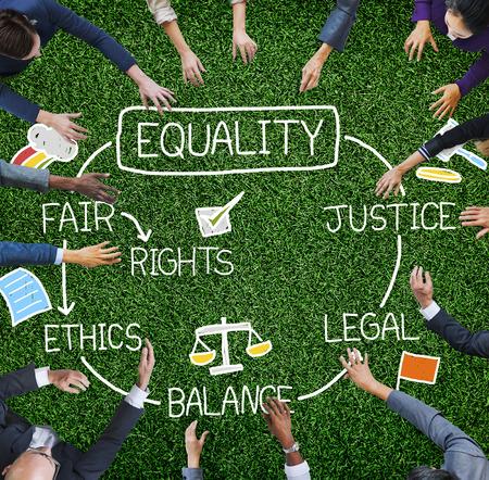 Droits à l'égalité juste équilibre Justice Concept éthique Banque d'images - 42943593