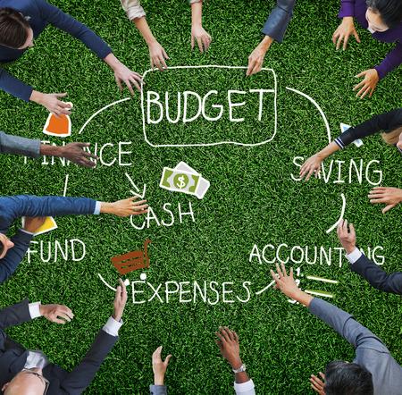 contabilidad: Presupuesto del Fondo Efectivo Finanzas concepto ahorro de Contabilidad Foto de archivo