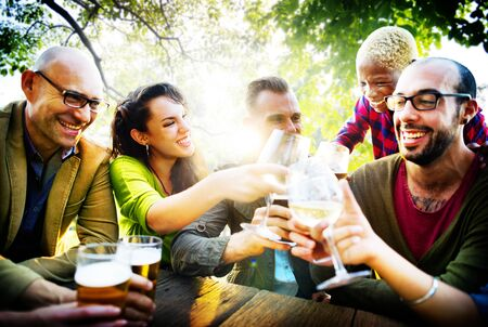 drinking alcohol: Friends Friendship Outdoor Chilling Togetherness Concept