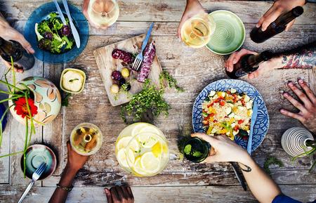 comidas: Alimento del partido Bebidas Concepto de comidas bebidas