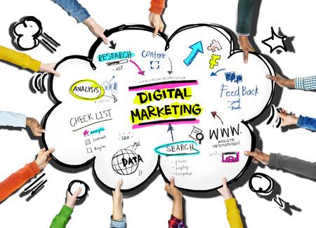 explosion engine: Digital Marketing Branding Strategy Online Media Concept Stock Photo