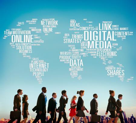 keywords link: Digital Media Online Social Networking Communication Concept