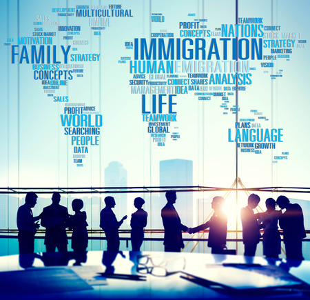 global: Immigration International Government Law Customs Concept