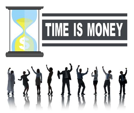 time is money: Time Money Hour Glass Business People Concept