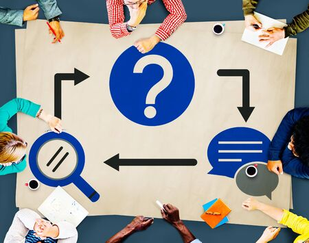 inquiry: Frequently Asked Questions Inquiry Asking Concept