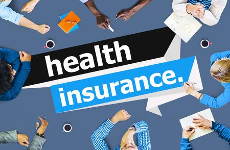 salud: Protecci�n de la Salud del Seguro de Riesgos Evaluaci�n de Garant�a de Concepto Foto de archivo