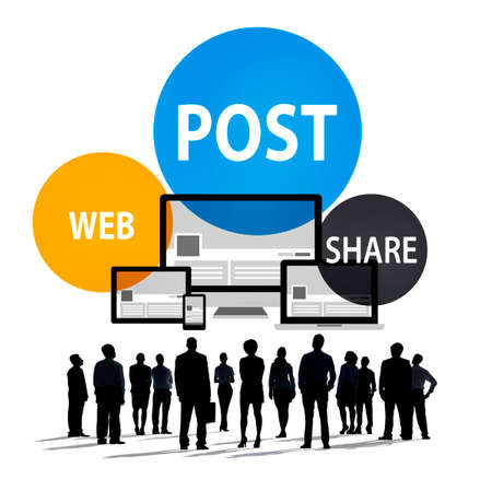 remember: Post Web Share Announce Reminder List Remember Concept