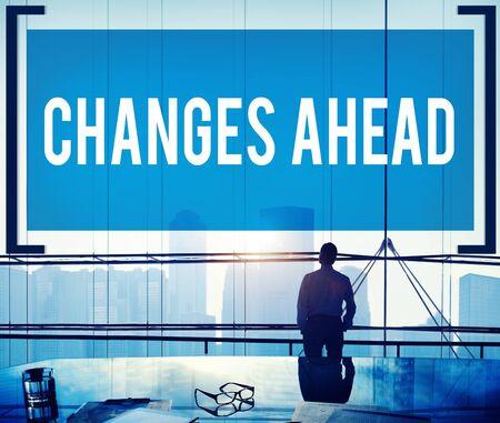 Cambios Ahead Ambición Aspiración Mejora Concepto