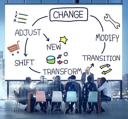 Verandering Verbetering Development Pas Transform Concept Stockfoto
