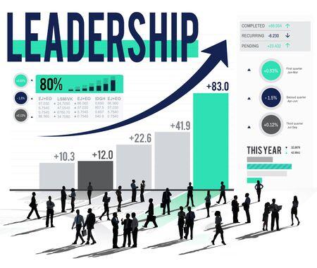 authoritarian: Leadership Learder Lead Management Coach Concept