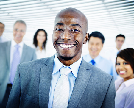 organised group: Business People Team Success Cheerful Concept