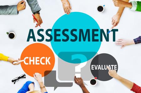 評価計算見積もり評価の測定概念 写真素材