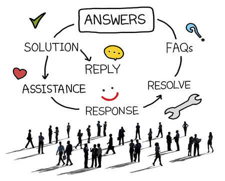 response: Answers Solution Response Question Solving Concept Stock Photo