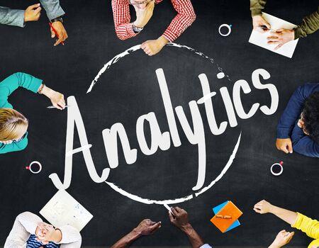 consideration: Analytics Evaluation Consideration Planning Strategy Concept Stock Photo